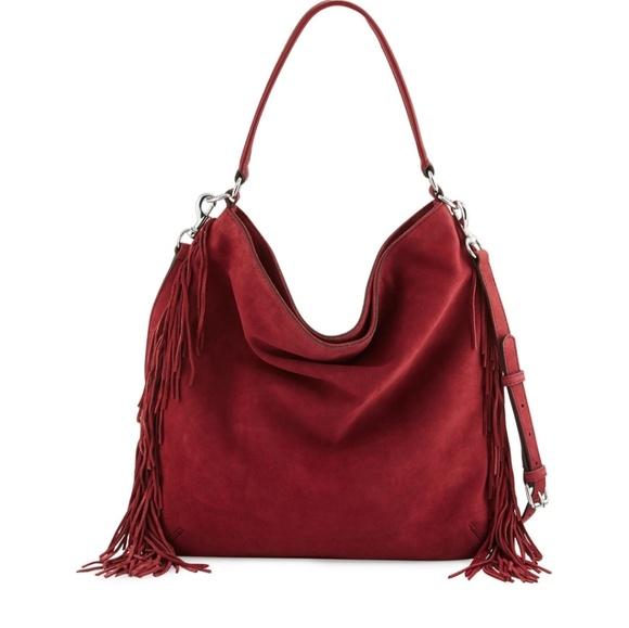 Rebecca Minkoff Handbags - NWT Rebecca Minkoff Clark Fringe hobo xbody